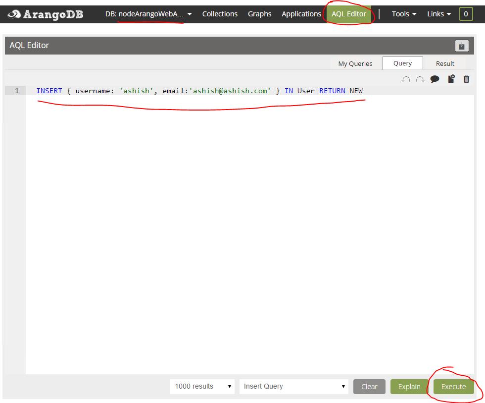 Getting started with ArangoDB using NodeJS (Nodejs + ejs +